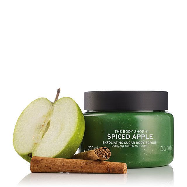 Go wild this season for our new Spiced Apple exfoliating sugar scrub. Enriched with apple seed oil from the Alps, it exfoliates your skin and leaves it feeling smoother, softer and scented with warm baked apples delicately dusted with cinnamon.