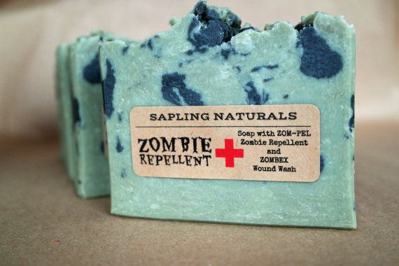 Zombie Repellent Soap - great gift for men, nerds, survivalists