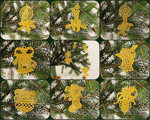 LORAembroidery / vyšívané vianočné ozdôbky na stromček