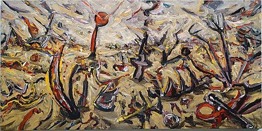 Desert  Peter Booth (Australian, born 1940)  Date: 1985 Medium: Oil on canvas
