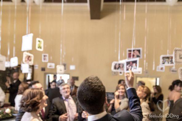 Feel The JackSons13 – Globos por doquier | Feel the Feeldding Exposición de fotos con globos de helio durante el aperitivo de #theJackSons13   Wedding photo display whith baloons #photodisplay #wedding