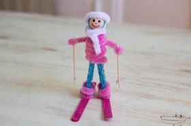Esquiadora manualidades de invierno
