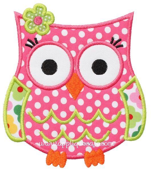 """Owl Applique Design  Sizes include: 4x4 hoop (3.47"""" x 3.89"""") 5x7 hoop (4.90"""" x 5.53"""") 6x10 hoop (5.89"""" x 6.67"""") Price:Was $4.00 Sale! $2.00"""
