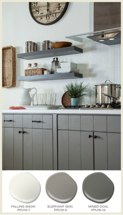 99 best images about gray and black rooms on pinterest for Behr paint for kitchen cabinets