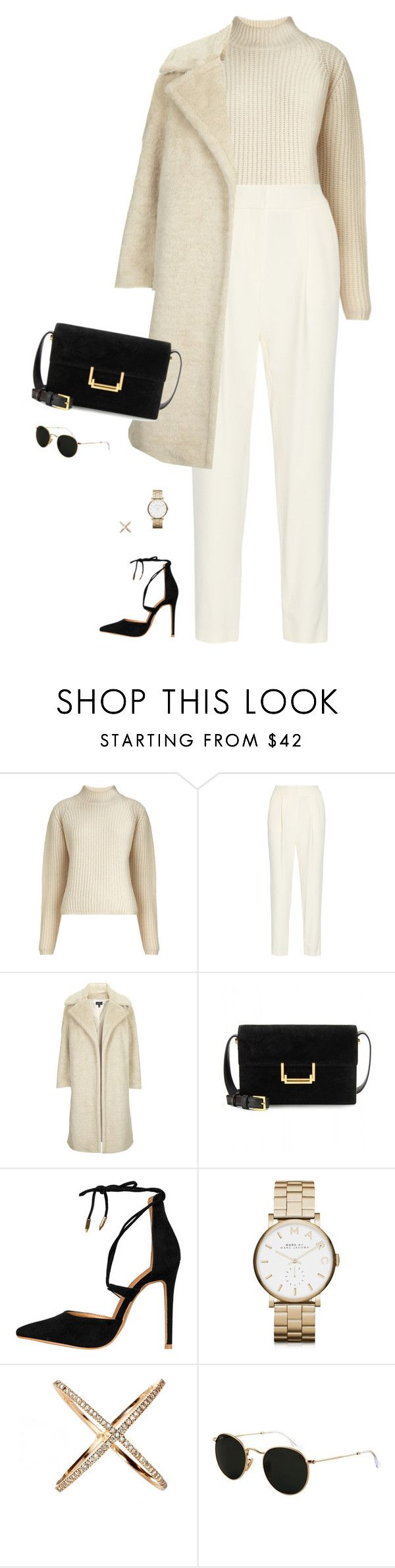 """""""Cream"""" by llsbo ❤ liked on Polyvore featuring Whistles, ADAM, Topshop, Yves Saint Laurent, Marc by Marc Jacobs, Eva Fehren and Ray-Ban"""