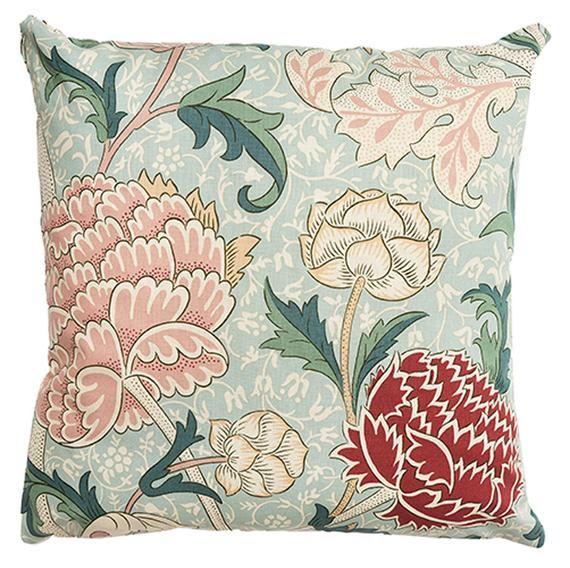 "William Morris Cray Cushion Cover 16/"" x 16/"" Sanderson Fabric"