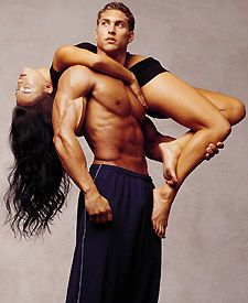 "Wtf?? another pinner said ""Gorgeously fit man and woman, beautiful pose"" But to me it looks like he murdered the bitch and threw her over his shoulder! Hahahaha"