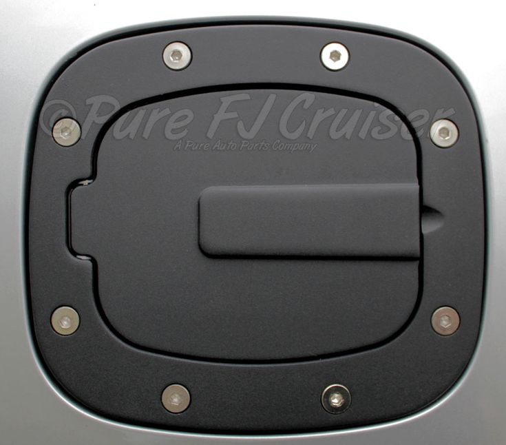 Black Anodized Fuel Filler Door Cover, Aluminum; 07-13 FJ Cruiser [6071K] - $109.99 : Pure FJ Cruiser Accessories, Parts and Accessories for your Toyota FJ Cruiser