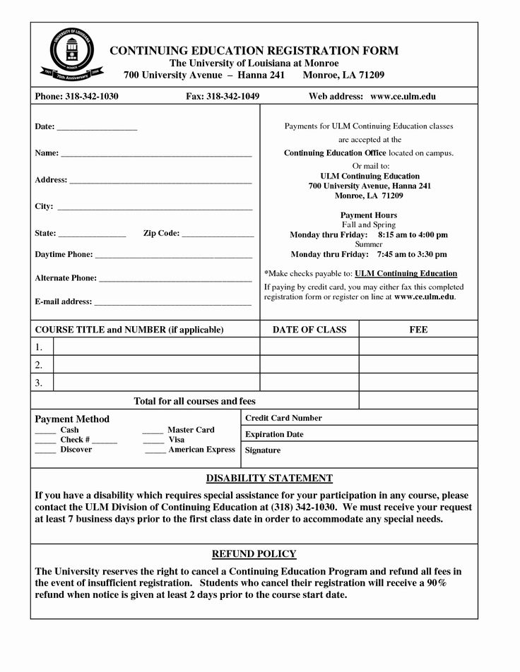 registration form template word unique student application
