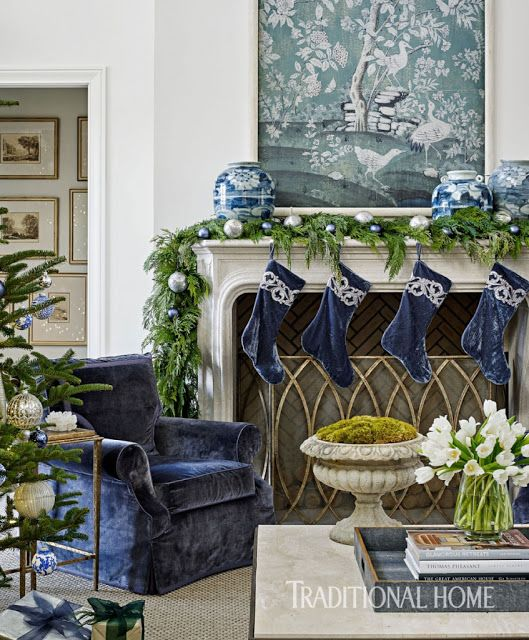 17 best ideas about blue christmas decor on pinterest blue christmas turquoise christmas and for Silver ornaments for living room
