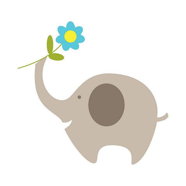 ellie elephant printable pdf template stationery set | Flickr - Photo Sharing!