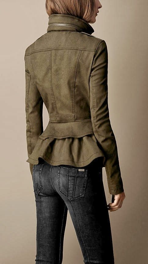 Burberry jacket with black skinny jeans. Wow you can tell Burberry styling from a mile away! Some items are just worth the money!