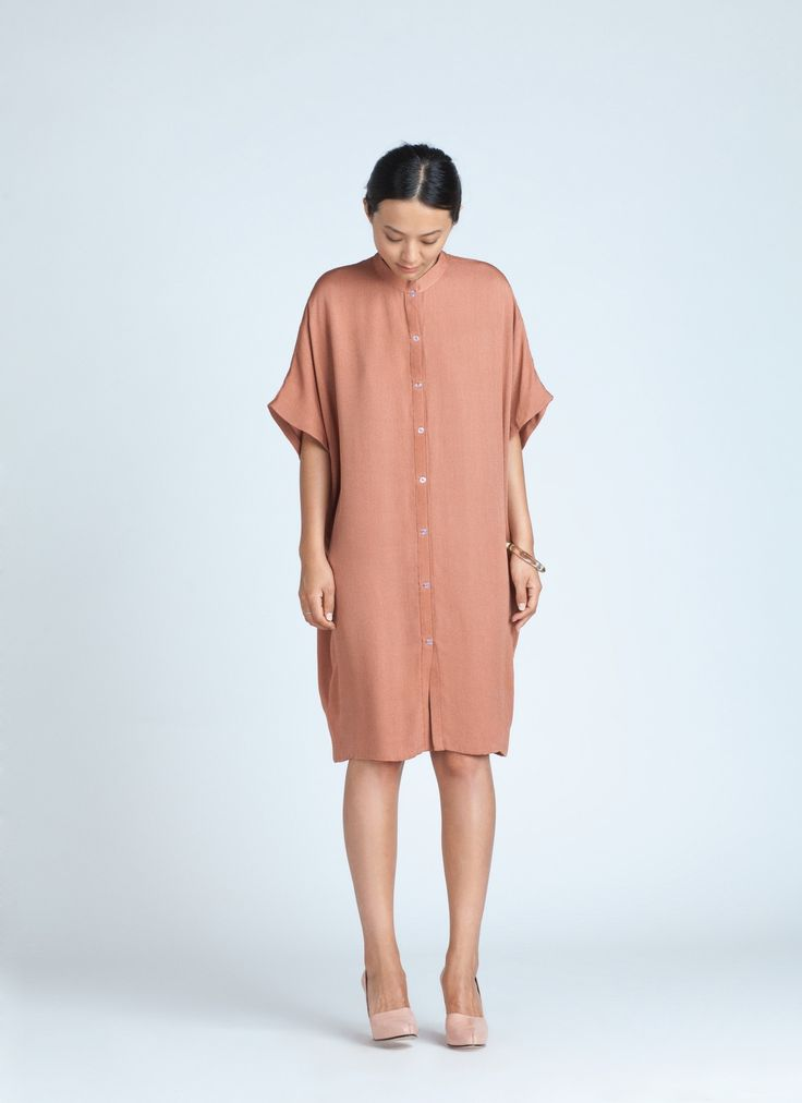 Light Coral Xu Xa Dolman Shirt Dress