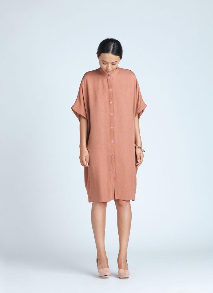 Light Coral Xu Xa Dolman Shirt Dress