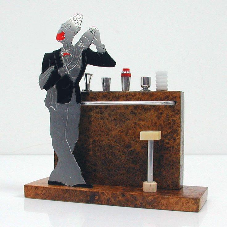 ART DECO French SUDRE Figural BARTENDER COCKTAIL