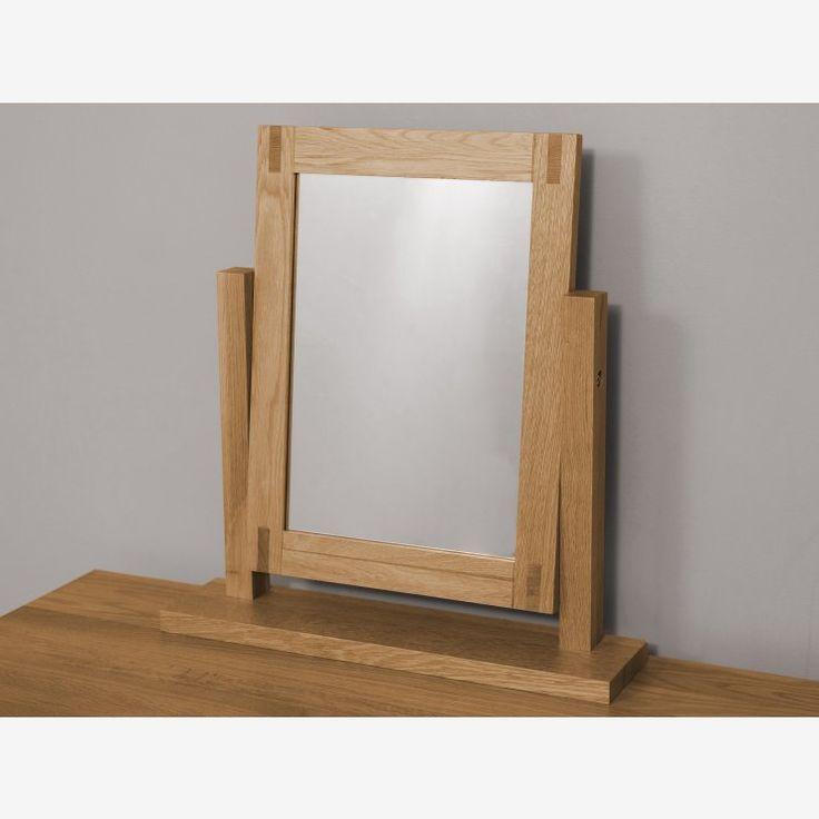 Alto Natural Solid Oak Dressing Table Mirror | Bedroom Furniture