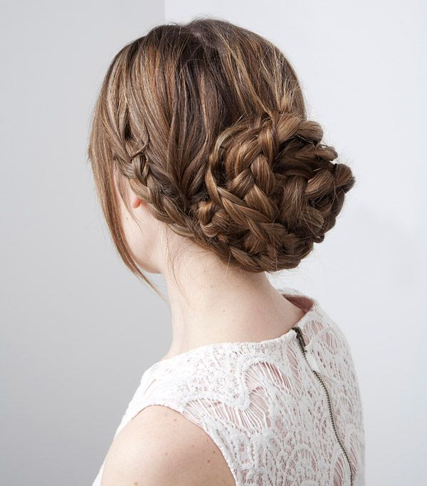 Hairstyles for thick hair: The Braided Bun.