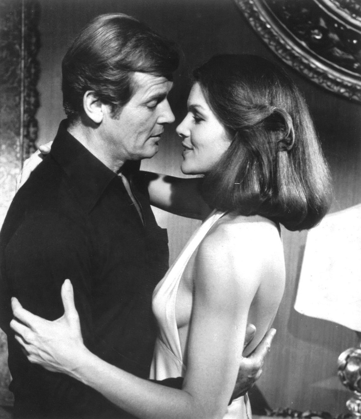Lois Chiles and Roger Moore (Moonraker - 1979)