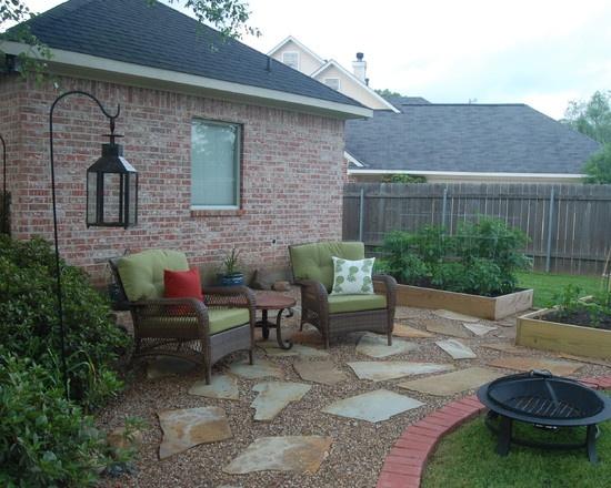 095985a9aaa3c50e70c20e0f53dff1b6 South West Brick Pea Gravel Garden Design on