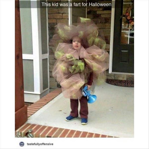 This kid was a fart for Halloween!