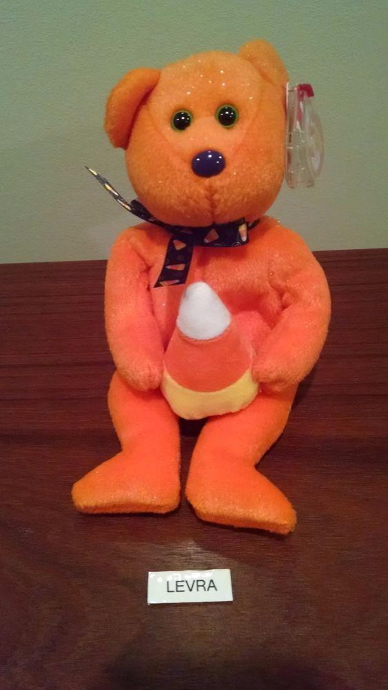 TREATOR Halloween candy corn Ty Beanie Baby Babies Bear FREE SHIPPING new NMT #Ty