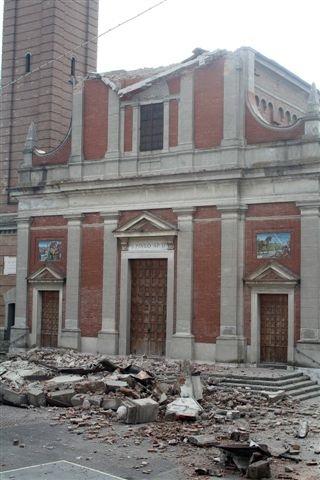 Terremoto in Emilia. La chiesa di Mirabello