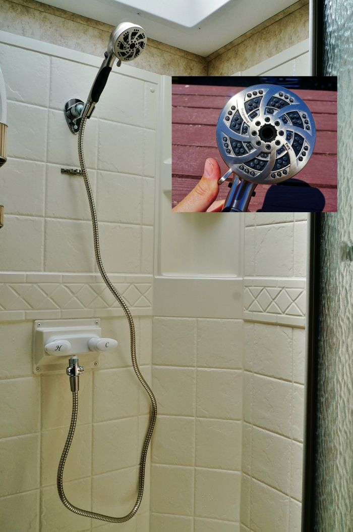 Our RV shower upgrade  New Oxygenics model Fury RV   http   www. 291 best Camper RV Remodel images on Pinterest   Camper renovation