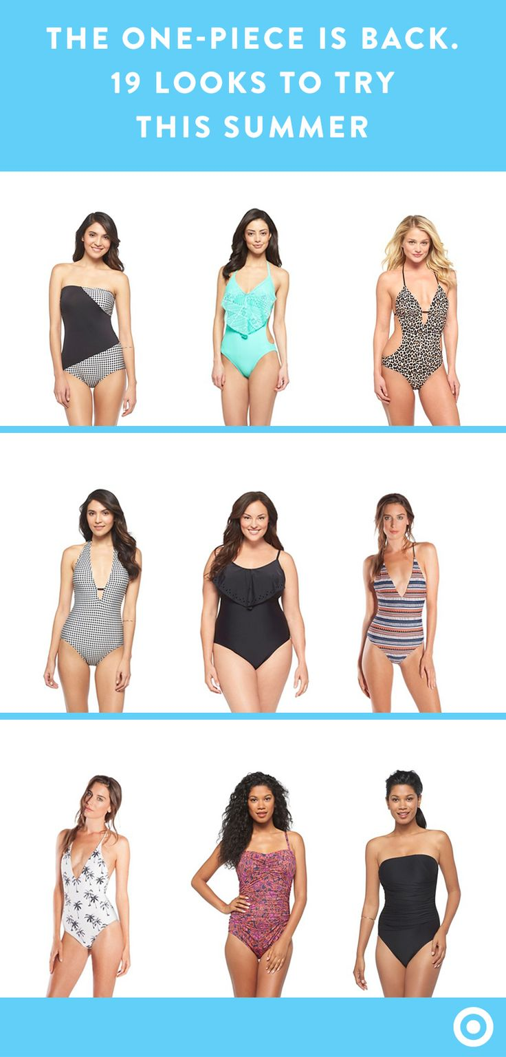 You already know you can find a knockout bikini at Target—but have you seen the one-piece options? This season's side cutouts, draping and crochet embellishments are just a few things giving so-called monokinis a moment.
