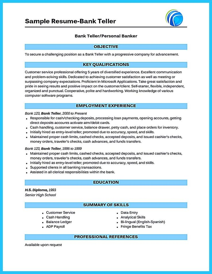 cool Learning to Write from a Concise Bank Teller Resume Sample - sample resume for bank teller