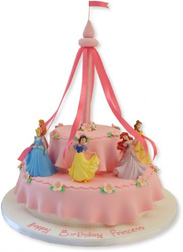 How cute!! If baby girl has a Disney Princess party this is SO her cake.