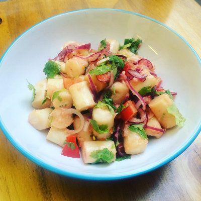 Ceviche vegetariano de palmitos y cilantro via @holandespicante
