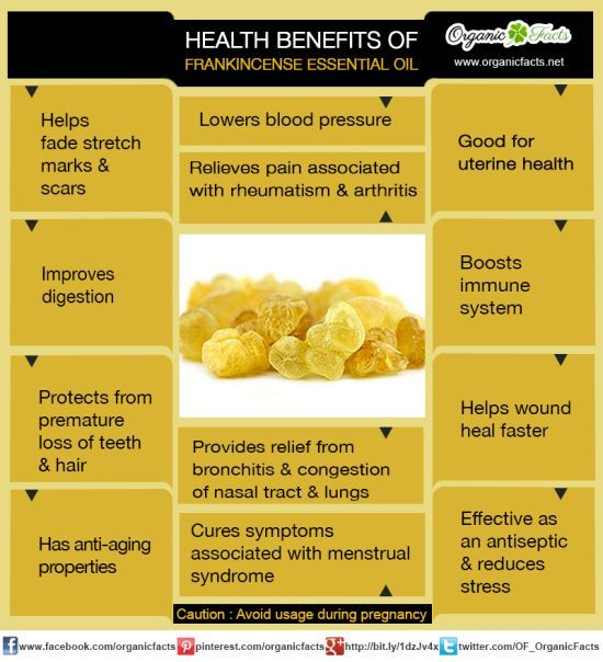 Frankincense Essential Oil apart from its use in perfumery and aromatherapy has numerous medicinal uses and health benefits