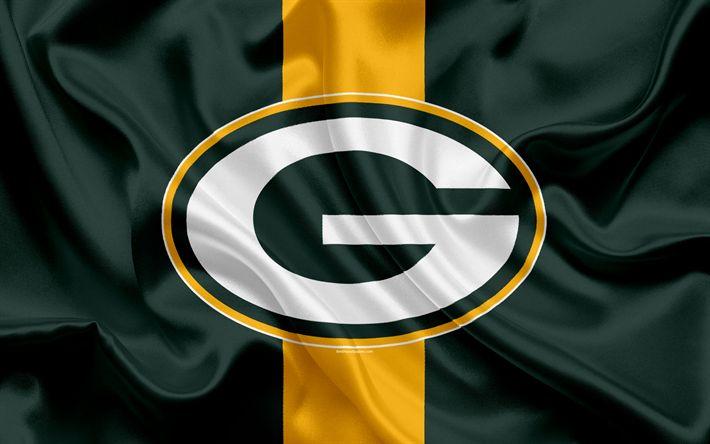 Hämta bilder Green Bay Packers, Amerikansk fotboll, logotyp, emblem, NFL, National Football League, Green Bay, Wisconsin, USA, National Football Conference