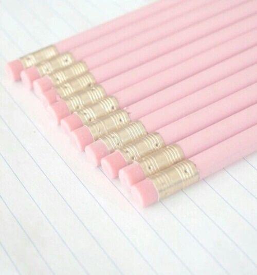 pink school supplies | Tumblr