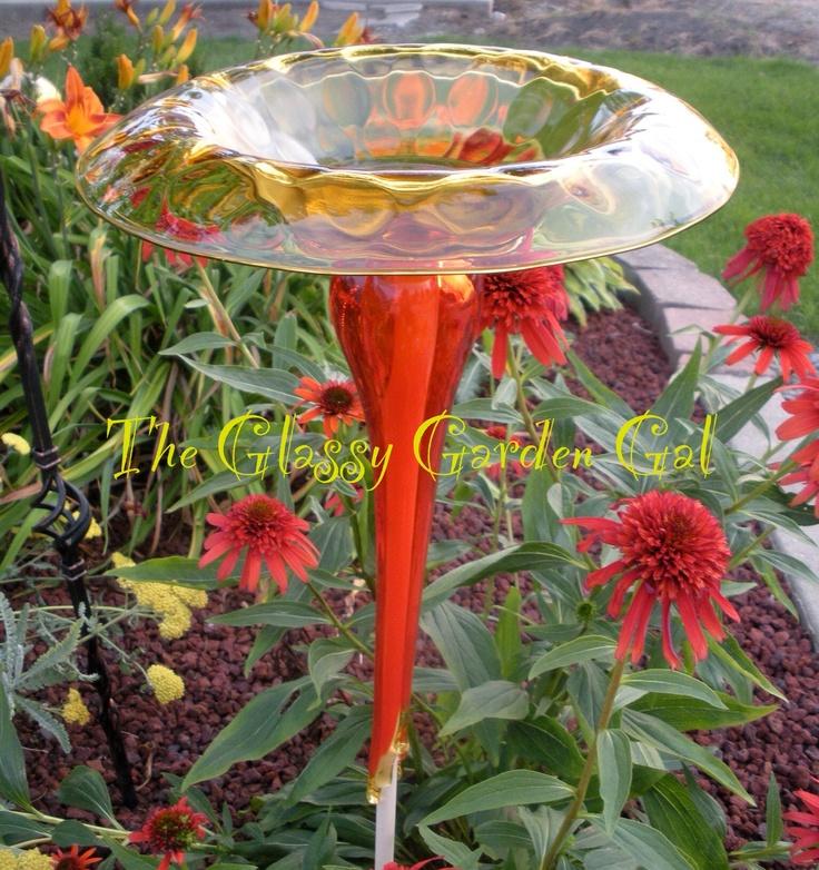 Unique Garden Art: 17 Best Images About Glass Garden Art