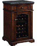 Amalfi Madison Wine Cabinet Cooler Refrigerator in Rose Cherry with Granite Top