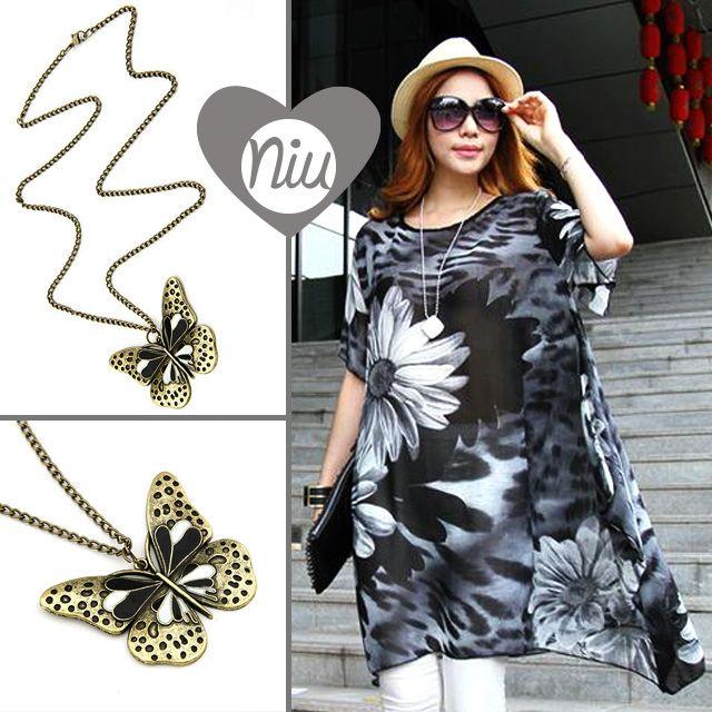 un estilo natural, mariposa para tu collar y estampado floral en tu ropa. Encuentra esto y mucho más en: www.niuenlinea.co