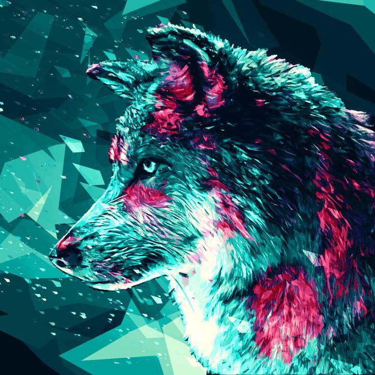 abstract geometric wolf