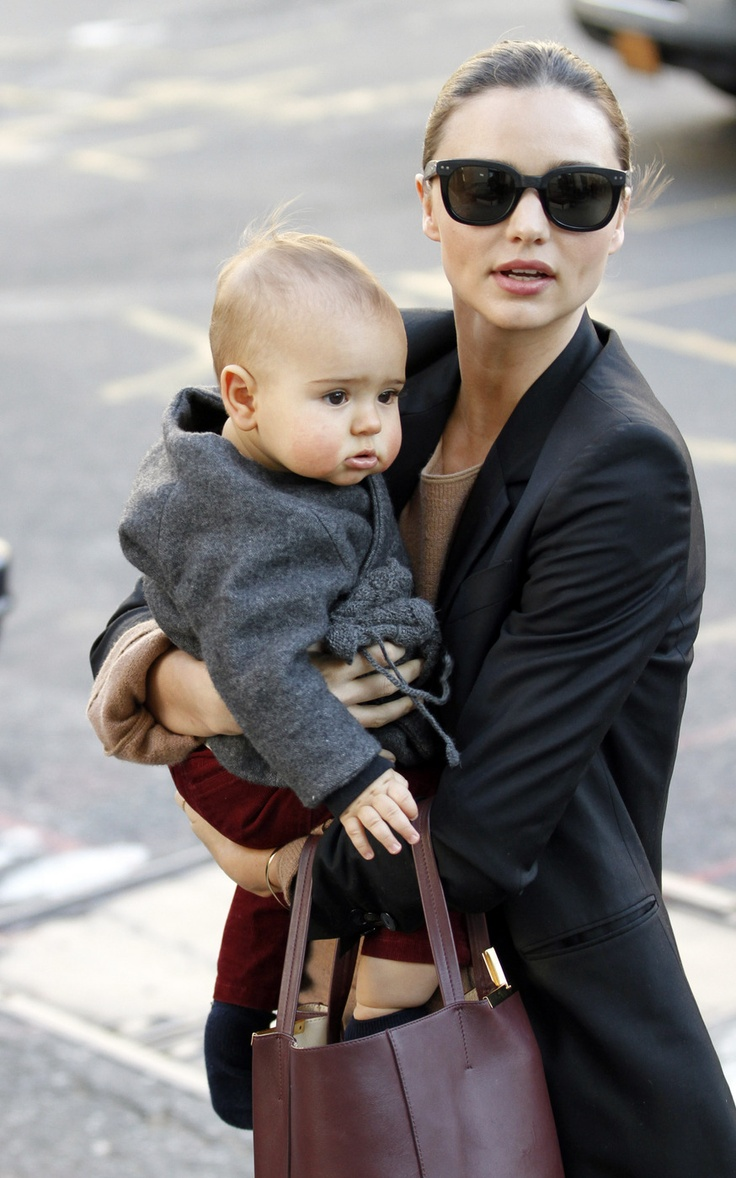 Miranda Kerr and her son.