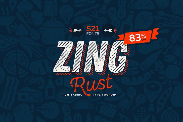 Zing Rust – 6 Free Fonts