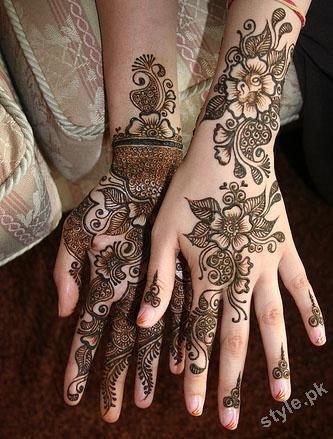 Mehndi Designs For Face: Latest Henna Tattoos Ideas 2012