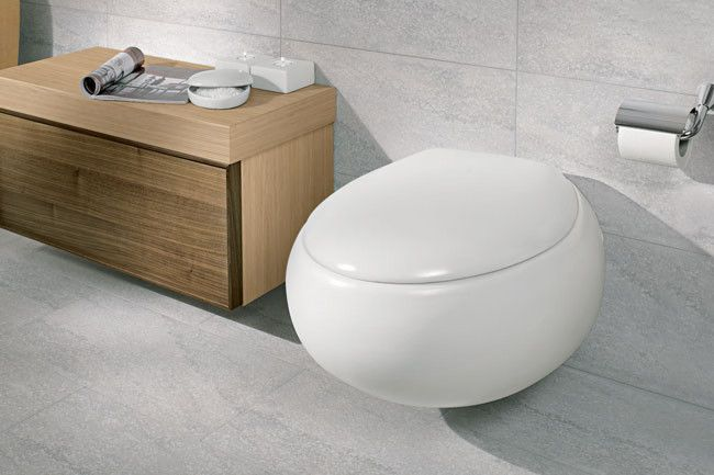 pure stone washdown wall mounted toilet from villeroy and. Black Bedroom Furniture Sets. Home Design Ideas