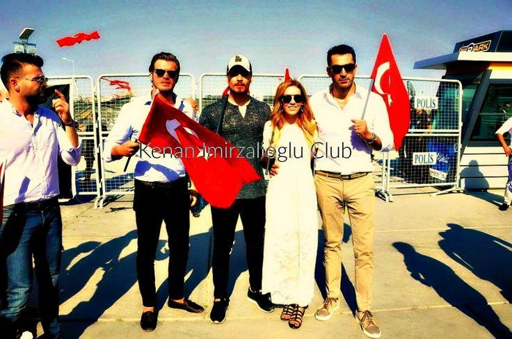 #kenaİmirzalıoğlu , #SinemKobal , #ÇağatayUlusoy and #KıvançTatlıtuğ at #Yenikapı (7/8/2016).
