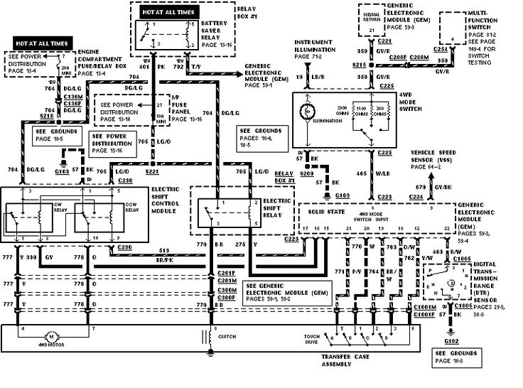 1998 ford ranger wiring diagram pictures to pin