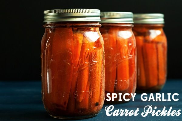 These spicy garlic carrot pickles are full of flavor and perfect for snacking or serving alongside (or inside of) sandwiches.