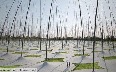 Windstalk: il parco eolico diventa land art a Masdar City