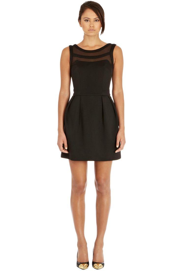Dresses   Black Mesh Top Dress   Warehouse