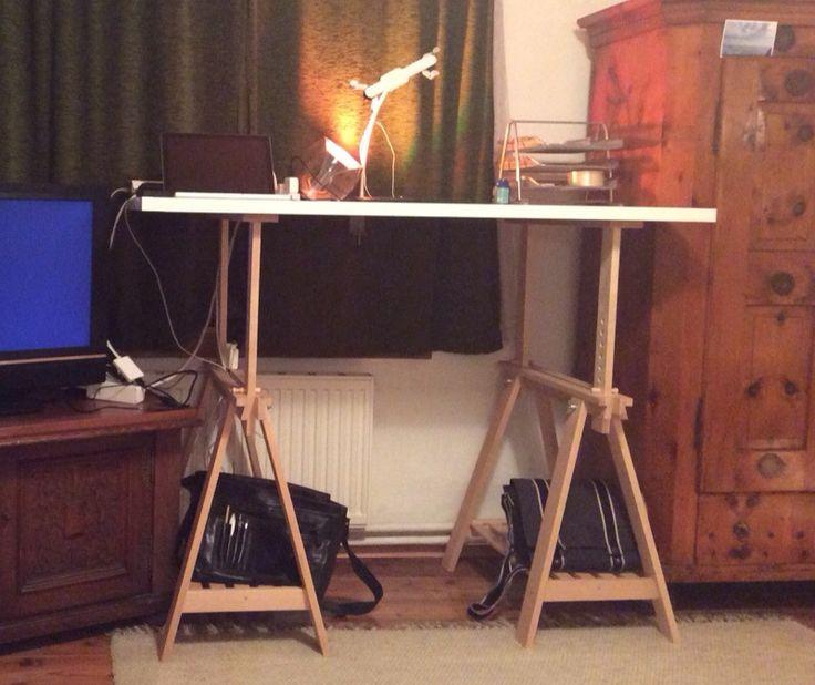 studio convert the finnvard into a height adjustable standing desk ikea hackers making a home pinterest desks ikea hackers and office hacks