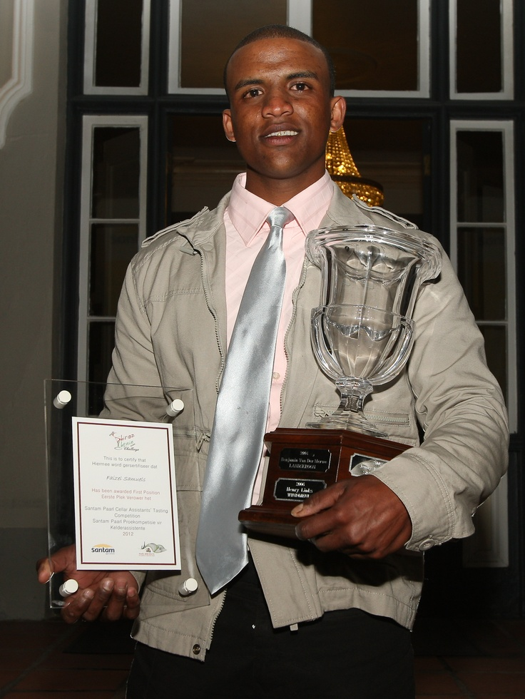 Faizel Samuels, Mellasat vineyards, Cellar Assistant of the Year Paarl chapter receives his award at that gala dinner at the Grande Roche