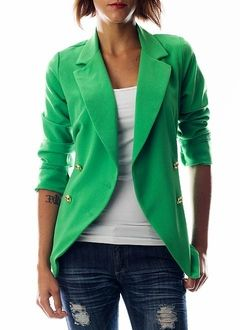 green blazer: Outfits, Fashion, Style, Green Coats, Clothing, Green Blazers, Colors Blazers, Kelly Green, Green Jackets